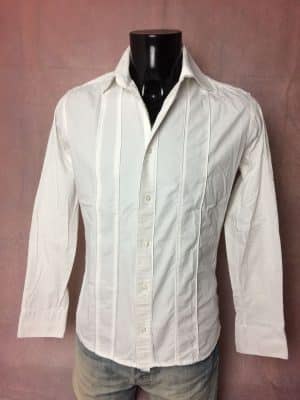 Chemise Provence SOULEIADO, Vintage 00s, Taille S, Couleur Blanche, Luxe Glamour, Gardian Camargue Sud Feria Shirt Homme