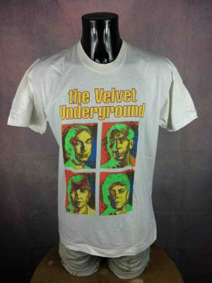 T-Shirt THE VELVET UNDERGROUND, édition 1993 European Reunion Tour, double face avec liste des dates, marque Screen Stars, Made in Ireland, Véritable vintage 90s,  Concert Reed Cale