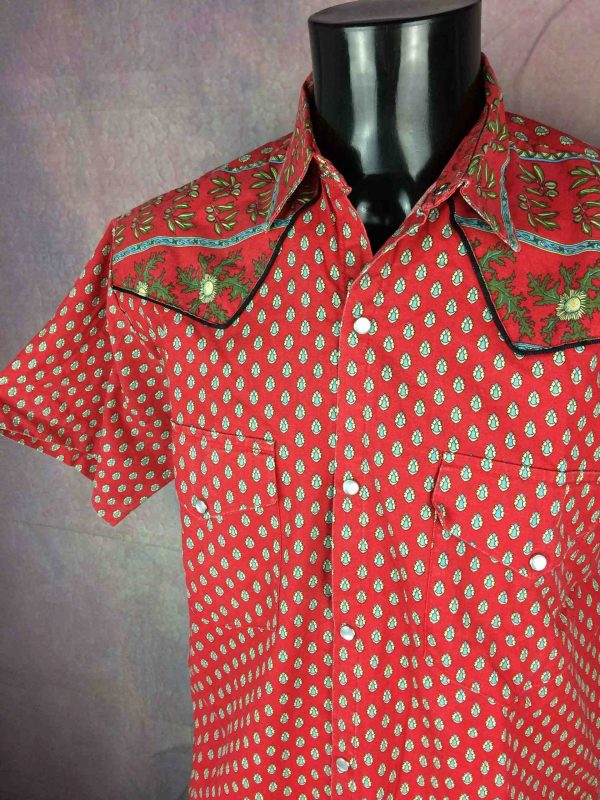 VINTAGE 90s Chemise SMade in France Provence - Gabba Vintage