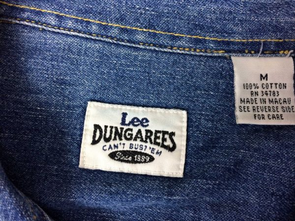 lee dungarees chemise cant bust vintage 90s gabba vintag 5 rotated - LEE Dungarees Chemise Can't Bust Vintage 90s