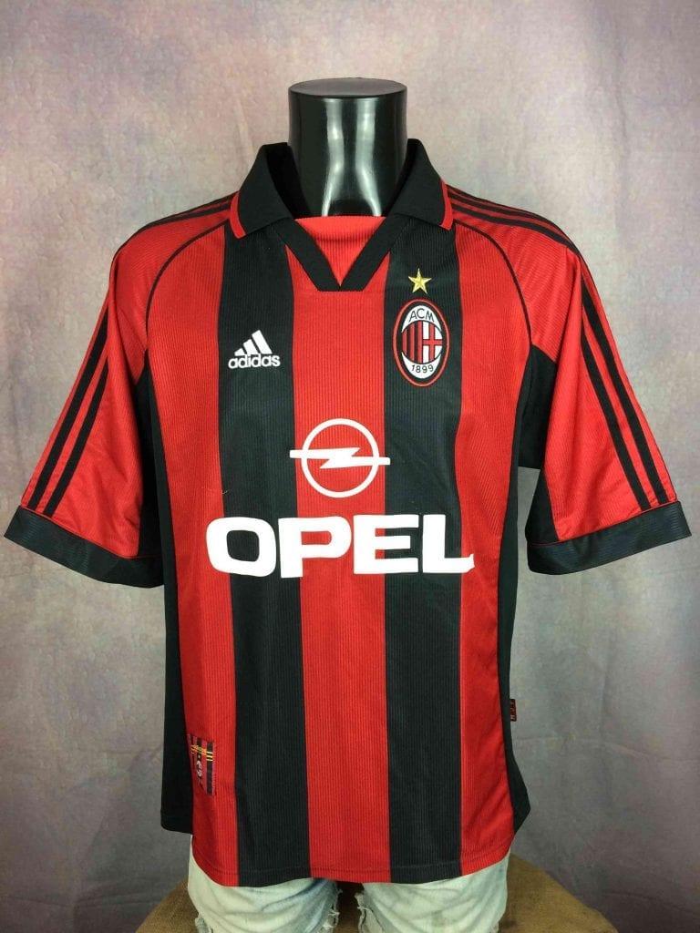 AC MILAN Jersey 1998 1999 Adidas Home Vintage - Gabba Vintage
