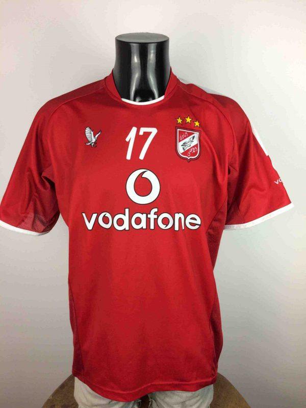MaillotAL AHLY, N°17, saison 2006, version Home, marque Venecia, véritable vintage années 00s, championnat Egypt Premier League, Football Jersey Camiseta