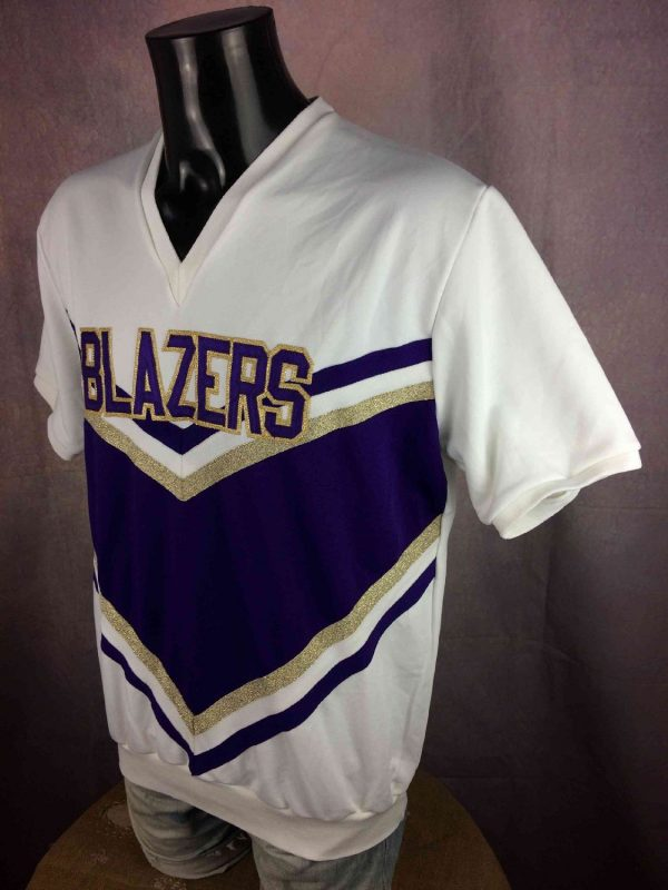 BLAZERS Jersey Cheerleading Made In USA NHL Gabba Vintage 3 resultat - BLAZERS Maillot Année 80 Vintage USA Hockey