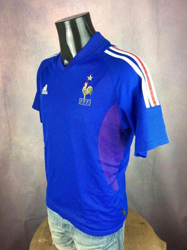 FRANCE Jersey Home 2002 Zidane World Cup FFF Gabba Vintage 3 resultat resultat - FRANCE Maillot Home 2002 Zidane Adidas Foot
