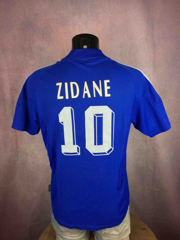Maillot FRANCE , Floqué Zidane N°10, Saison 2002 - 2003, version Home, Marque Adidas, daté du 11/01, Technologie Climalite, World Cup FFF, Jersey Camiseta Football