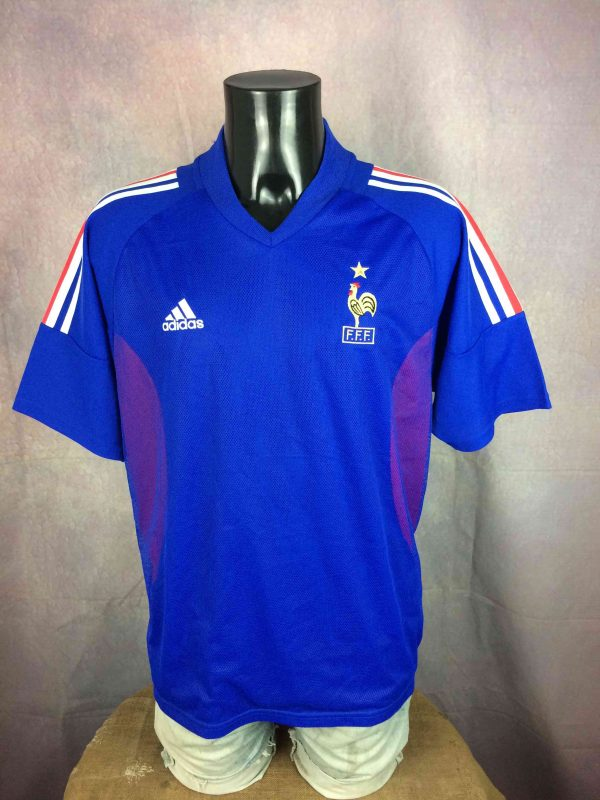 FRANCE Jersey Maillot Home 2002 World Cup - Gabba Vintage