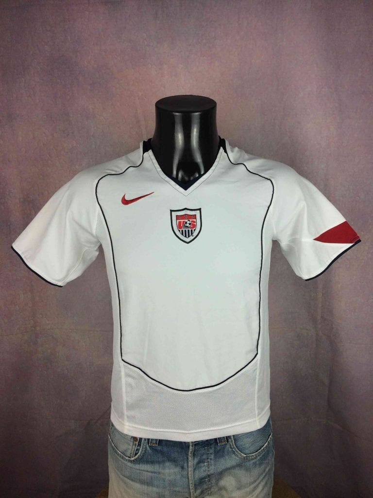 Maillot USA Team, Marque Nike, Technologie 90, Saison 2004 - 2006, version Home, World Cup, United States, Jersey Camiseta Football