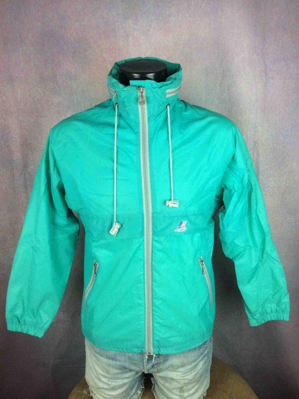 K-WAY Jacket Veste Made in France Vintage 90s - Gabba Vintage