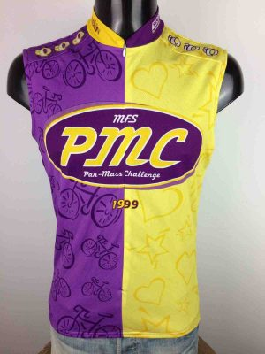 Maillot PAN MASS CHALLENGE, Véritable vintage 90s, édition 1999, de marque Pearl Izumi, Made in USA,  Vélo Cyclisme Cycling Jersey