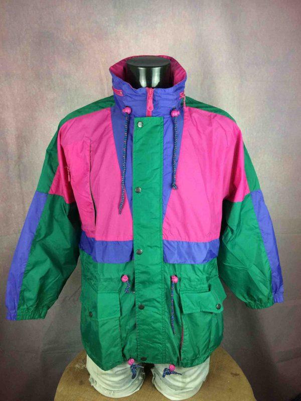 RODEO Rain Jacket Veste Nylon Vintage 90s - Gabba Vintage