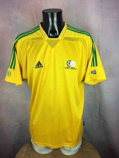 Maillot SOUTH AFRICA, Saison 2002 - 2004, version Away,Marque Adidas, Technologie Climacool, World Cup, CAN Bafana, Jersey Camiseta Football