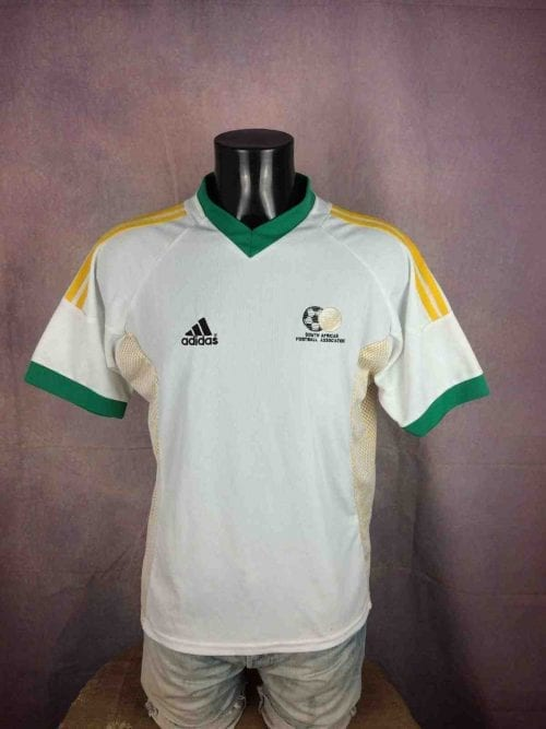 Maillot SOUTH AFRICA, marque Adidas, version Home, saison 2002 - 2004, Made in South Africa, World Cup CAN Bafana,Football Jersey Camiseta Football