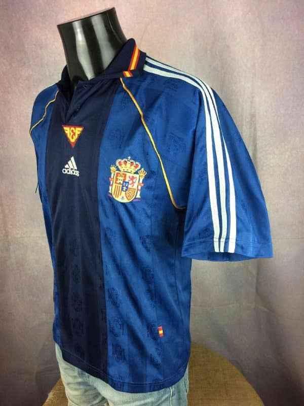 SPAIN Jersey Away Vintage 1999 2000 Adidas Gabba Vintage 3 resultat resultat - ESPAGNE Maillot Away Vintage 1999 Adidas Foot
