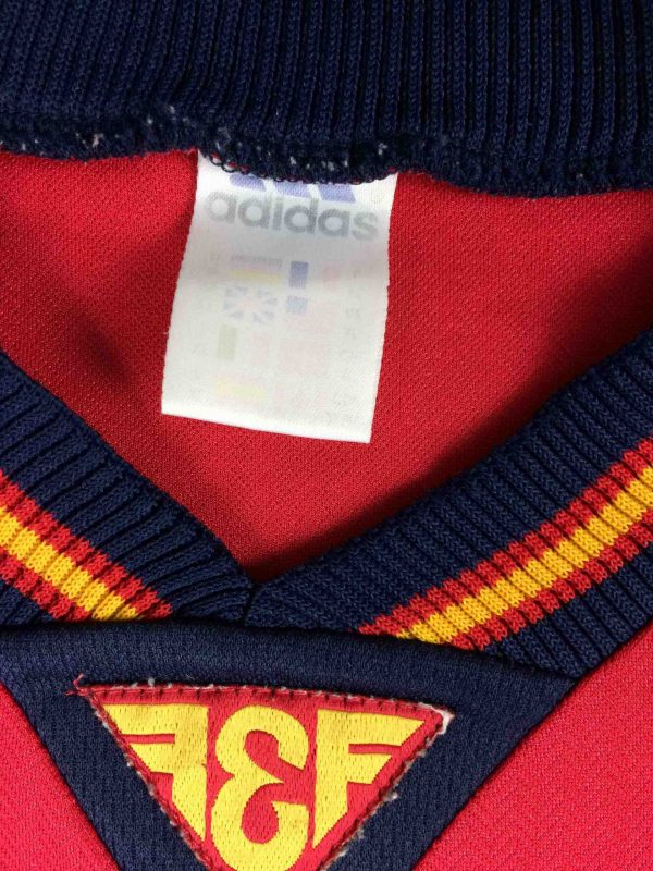 SPAIN Jersey Home Vintage 1998 1999 Adidas Gabba Vintage 1 scaled - SPAIN Maillot Home Vintage 1998 Adidas Foot
