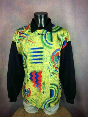 Maillot UHLSPORT, Numéro 1, Véritable vintage années 90, Manches longues, Graphique Design Jersey Camiseta Allemagne Handball Football