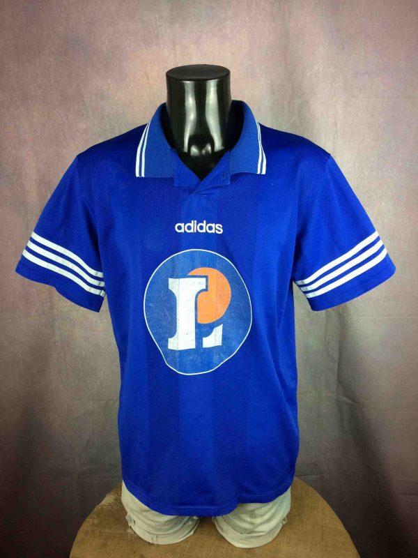 MaillotASOA VALENCE, porté à l'Avant Saison 1995 1996, N°13, de marque Adidas, Véritable vintage années 90, 2eme Division France, Drôme Football Jersey Camiseta