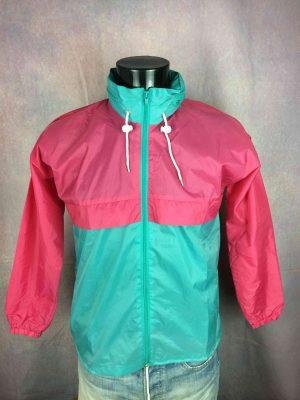 VINTAGE 90s Jacket Veste Waterproof KWay - Gabba Vintage