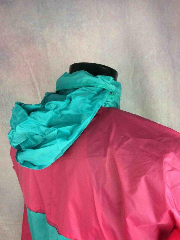VINTAGE 90s Jacket Veste Waterproof KWay Gabba Vintage 6 scaled - Veste Impermeable Vintage 90s Nylon Unisex