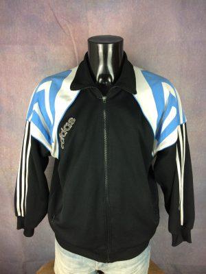 ADIDAS Jacket Vintage 90s 3 Stripes Design - Gabba Vintage
