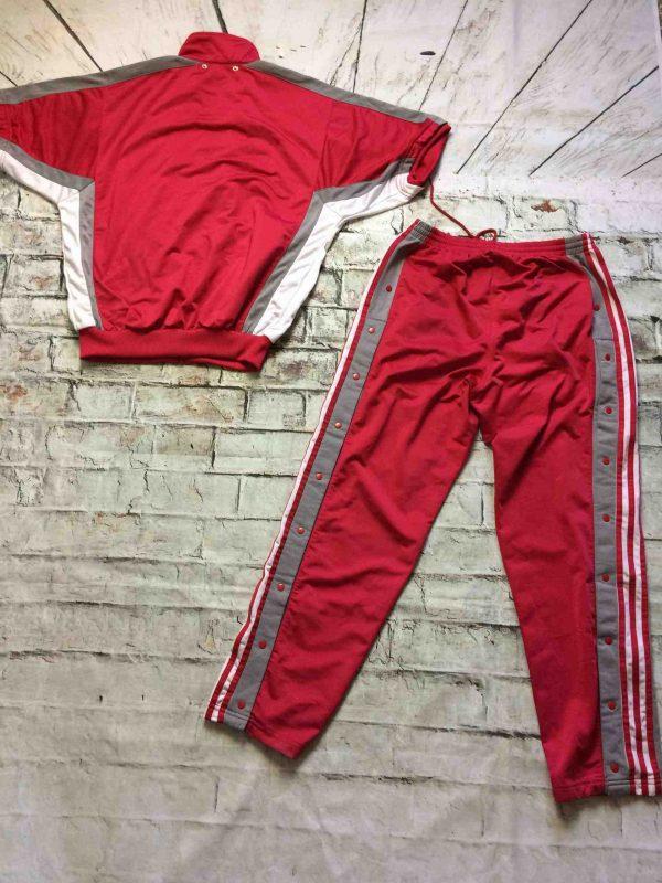 ADIDAS Tracksuit Buttons Trefoil Vintage 90s Gabba Vintage 11 scaled - ADIDAS Survêtement Vintage 90s Trefoil Rose
