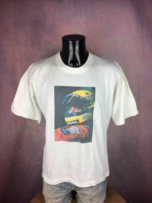 AYRTON SENNA T-Shirt Vintage 90s McLaren F1 - Gabba Vintage