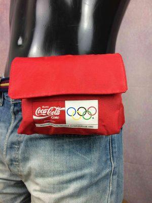 COCA COLA Belt Pack Sac Ceinture Vintage 1992 Jeux Olympiques Barcelona Olympics