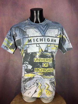 MICHIGAN TShirt Magic Johnson T's Vintage 90s - Gabba Vintage