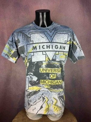 MICHIGAN TShirt Magic Johnson T's Vintage 90s - Gabba Vintage
