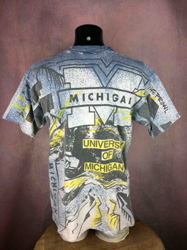 MICHIGAN TShirt Magic Johnson Ts Vintage 90s Gabba Vintage 5 scaled - Magic Johnson T's T-Shirt Vintage 90s Michigan