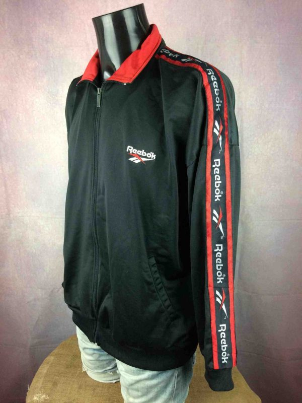 REEBOK Jacket Veste Vintage 90s Logo Black Gabba Vintage 4 scaled - REEBOK Veste Vintage 90s Logo Noir Sport