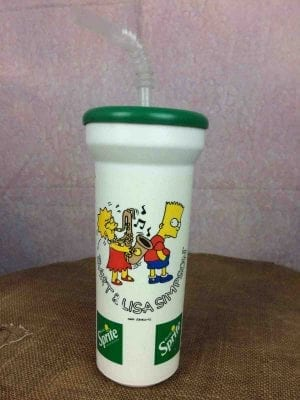 SIMPSONS Water Bottle Bidon Vintage 1993 - Gabba Vintage