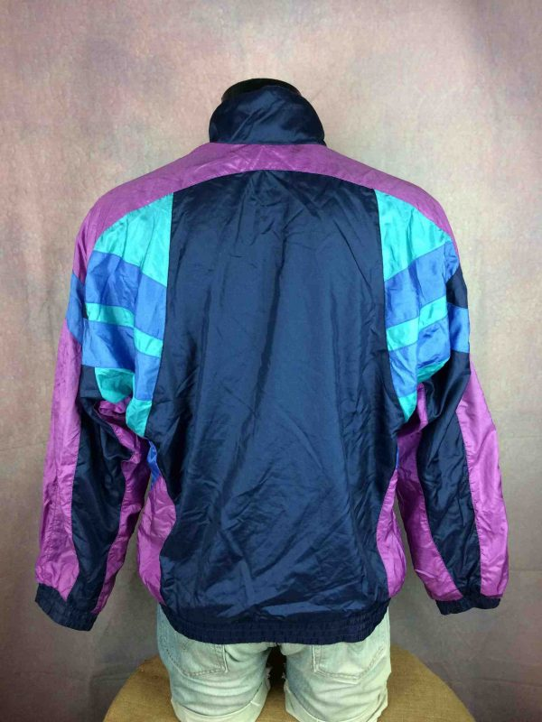 ADIDAS Jacket Made in Thailand Vintage 90s Gabba Vintage 5 scaled - ADIDAS Windbreaker Veste Vintage 90s Trefoil