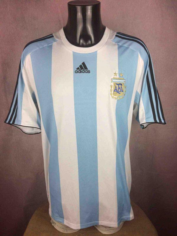 ARGENTINA Maillot 2007 2009 Home Adidas AFA - Gabba Vintage