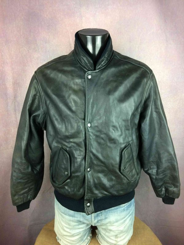 CHEVIGNON Veste Jacket Flying Wear Cuir VTG - Gabba Vintage