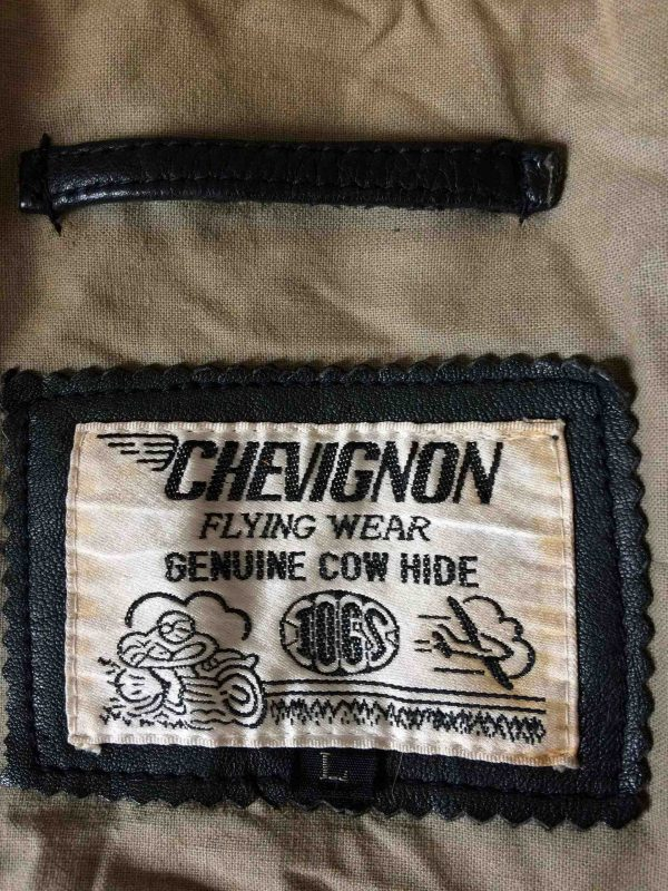 CHEVIGNON Veste Jacket Flying Wear Cuir VTG Gabba Vintage 9 scaled - CHEVIGNON Veste Vintage 90s Flying Wear Cuir