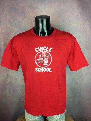 CIRCLE SCHOOL T-Shirt Vintage 80 Made in USA - Gabba Vintage