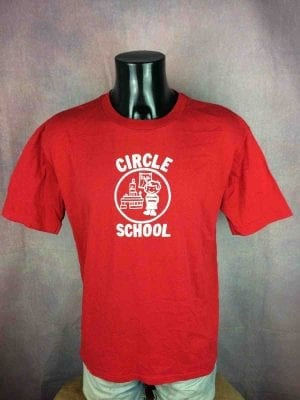 CIRCLE SCHOOL T-Shirt Vintage 80 Made in USA - Gabba Vintage