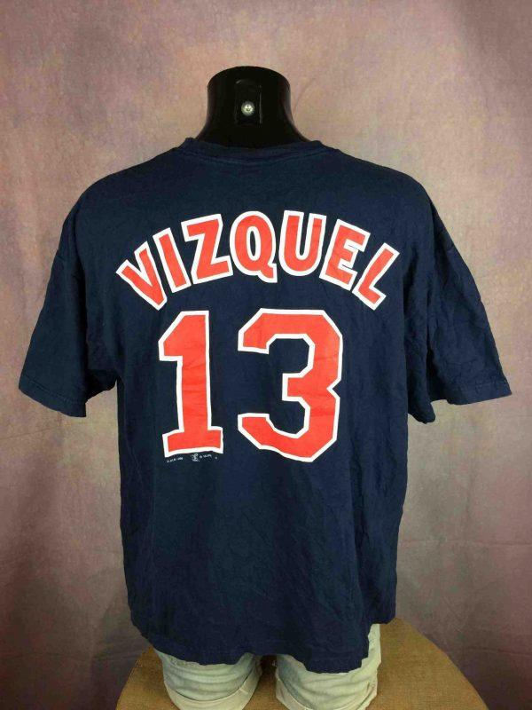 CLEVELAND INDIANS T Shirt Vizquel VTG 1998 Gabba Vintage 6 scaled - CLEVELAND INDIANS T-Shirt Vintage 1998 MLB