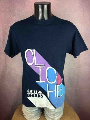 CLICHÉ Skateboards T Shirt Vintage 00s Logo - Gabba Vintage