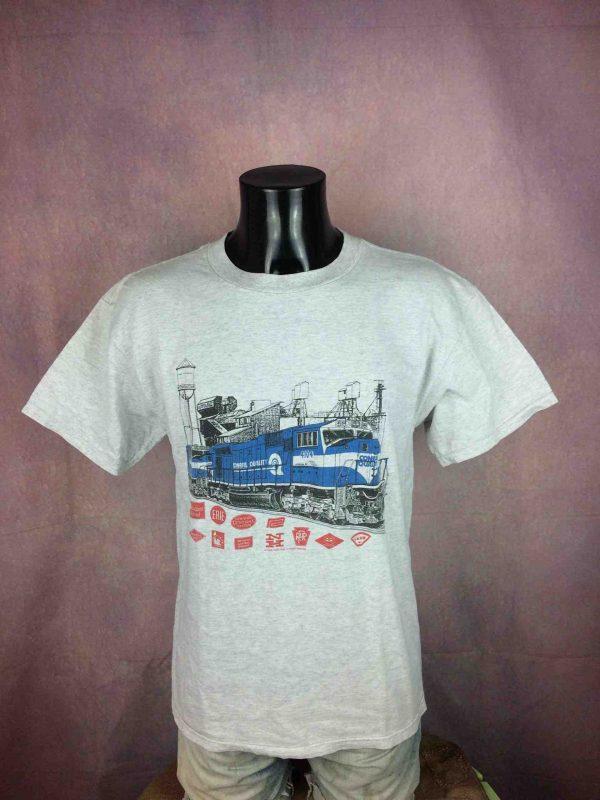 CONRAIL QUALITY T-Shirt VTG 1998 Rebel Rails - Gabba Vintage