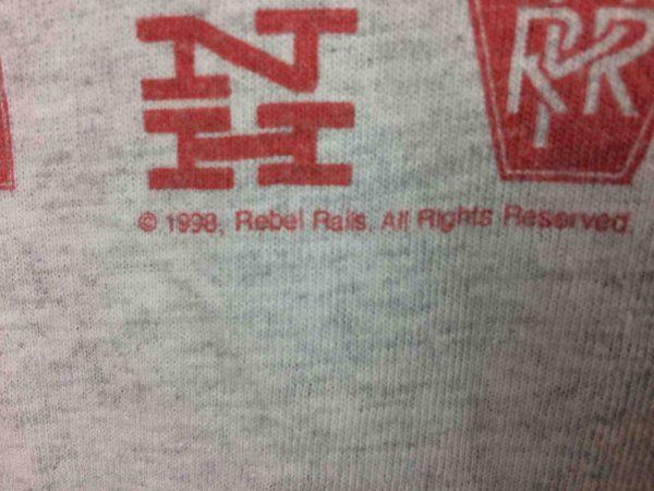 CONRAIL QUALITY T Shirt VTG 1998 Rebel Rails Gabba Vintage 4 scaled - CONRAIL QUALITY T-Shirt Vintage 1998 Rebel