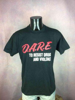 DARE T-Shirt Resist Drugs Violence Vintage - Gabba Vintage