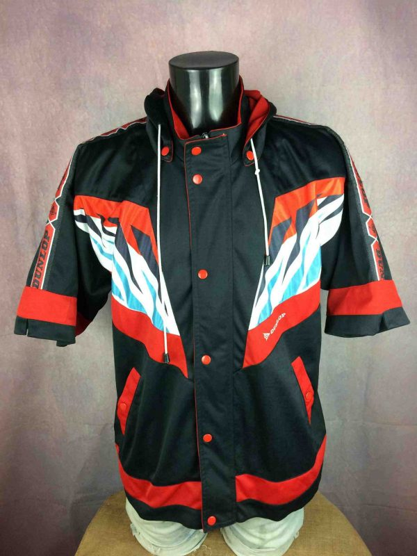 DUNLOP Jacket Shorts Sleeves Vintage 90s - Gabba Vintage