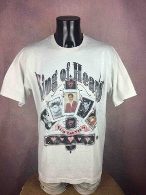 ELVIS PRESLEY T-Shirt King Of Heart Vintage - Gabba Vintage