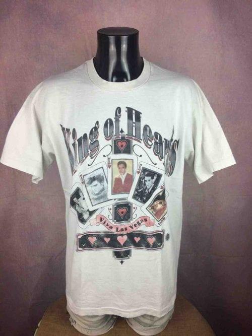 ELVIS PRESLEY T-Shirt King Of Heart Vintage - Gabba Vintage