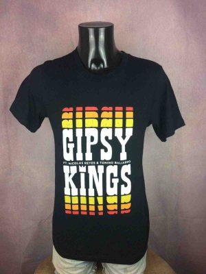 T-Shirt GIPSY KINGS, éditionUS Tour 2019 Nicolas Reyes Tonino Baliardo, double face avec liste des dates, de marque Canvas, Camargue Provence Gitan Concert