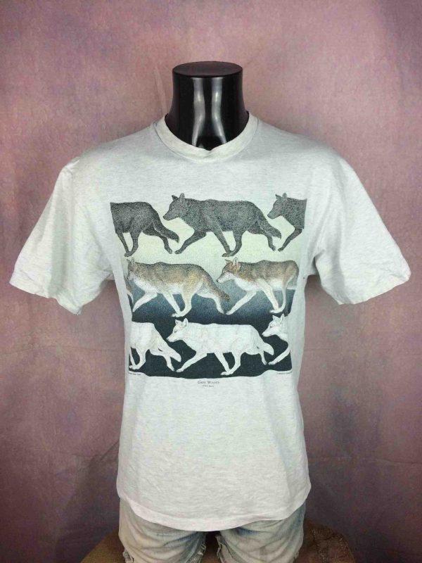 GRAY WOLVES T-Shirt Vintage 1993 D Dee Tyler - Gabba Vintage
