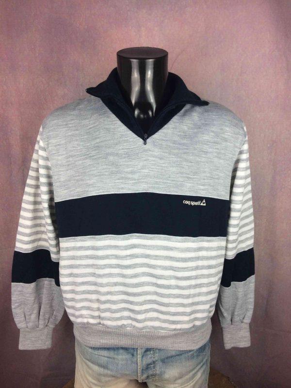 LE COQ SPORTIF Sweatshirt Vintage 80s France - Gabba Vintage