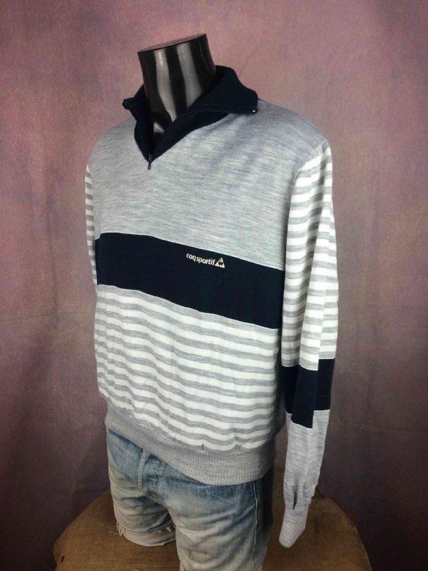 LE COQ SPORTIF Sweatshirt Vintage 80s France Gabba Vintage 3 resultat - LE COQ SPORTIF Sweatshirt Vintage 80s France