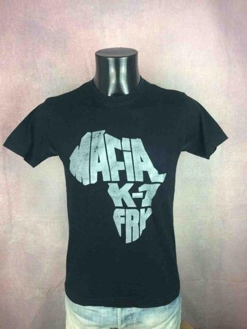 T-Shirt MAFIA K1 FRY, Official License, double face, Véritable vintage 00s, Hip Hop Rap France Legends